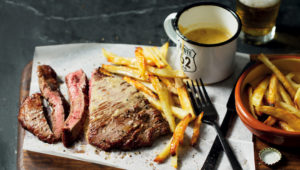 Best steak and chips with pepper sauce