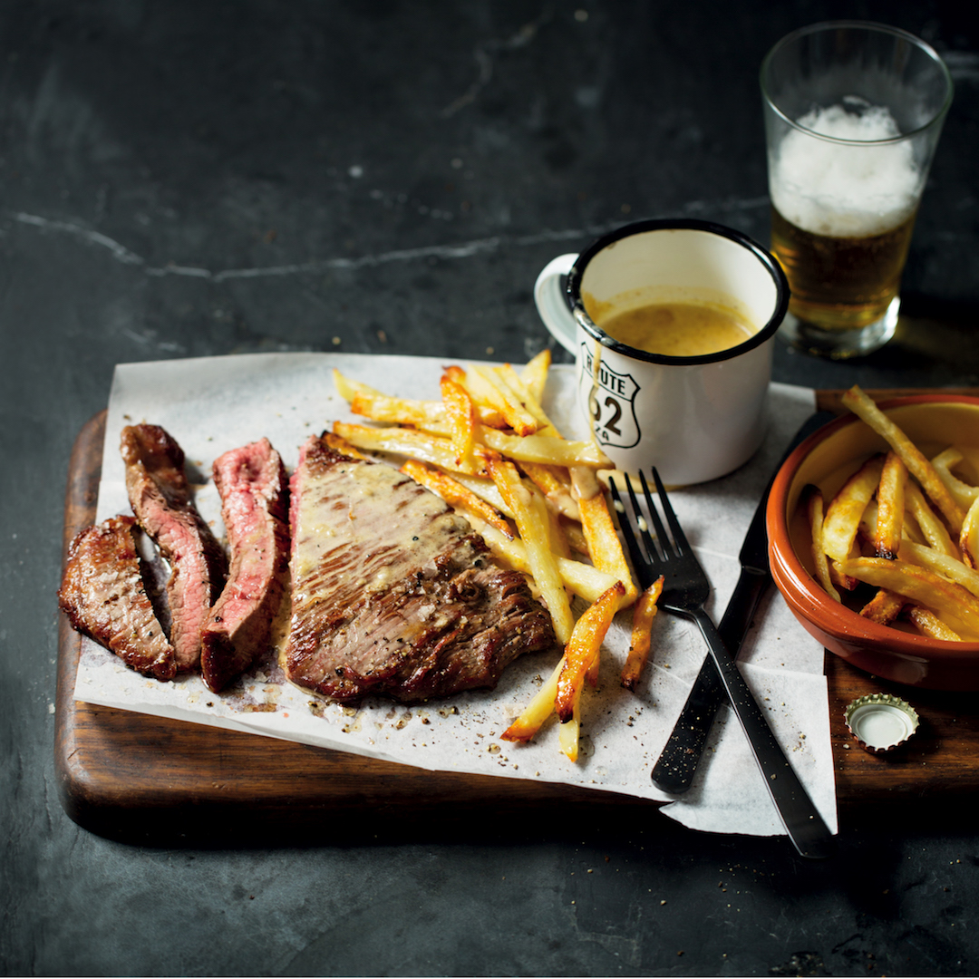 Best Steak And Chips With Pepper Sauce Mykitchen