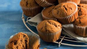 Espresso-vanilla muffins