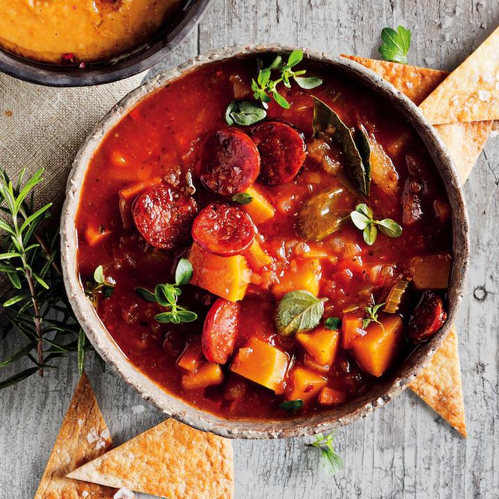 Veg and sausage soup