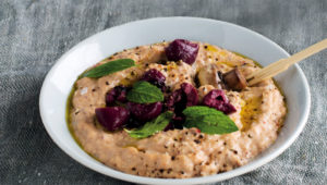 Cannellini and olive hummus