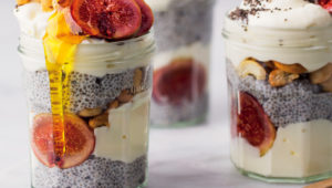 Chia and fig parfaits