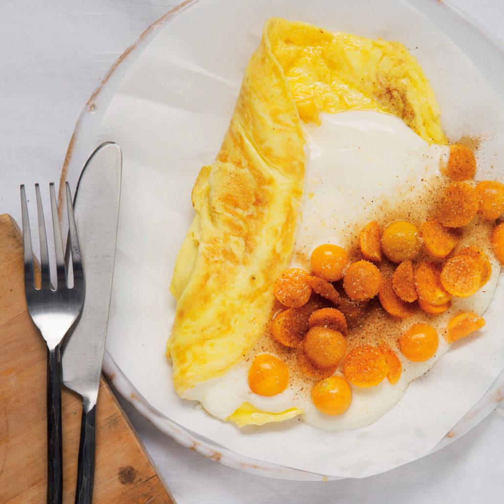 Gooseberry omelettes