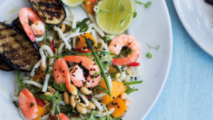 Prawn, mango and peanut salad