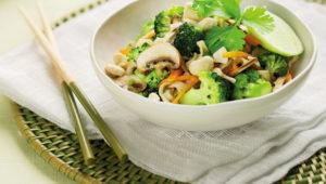 Raw veggie salad
