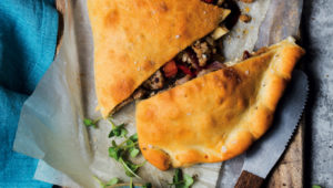 Spicy pork calzone