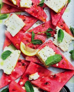 Serve our watermelon with baked ricotta and mint oil poolsidehellip