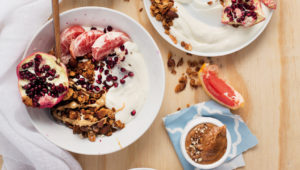 Almond granola and grapefruit bowls