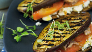Tuna and brinjal toasties
