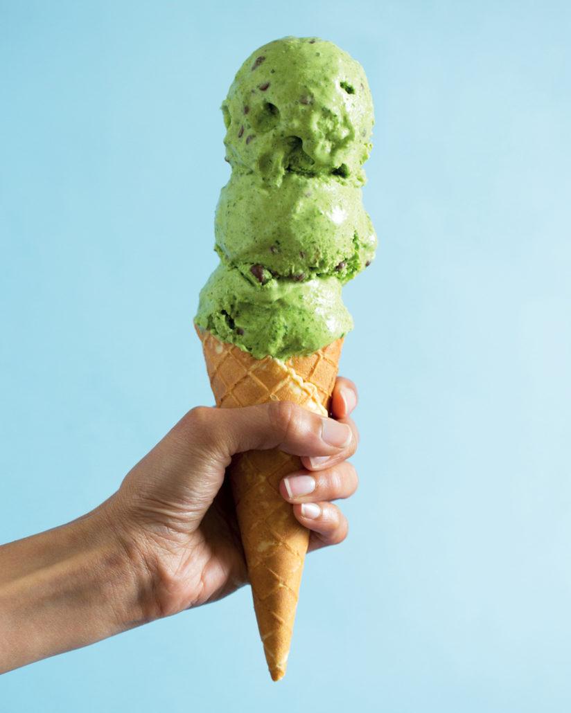 Mint choc-chip ice cream