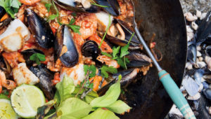 West Coast paella