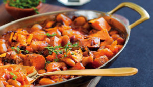 BBQ butterbean and sweet potato pot