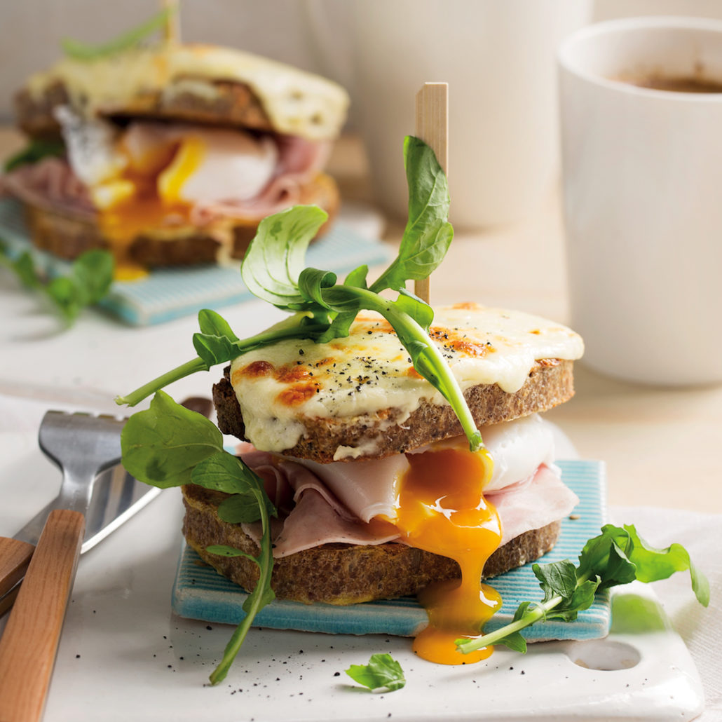 French toast croque madame