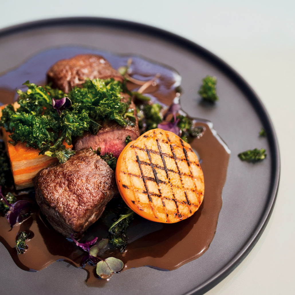 Chef Westley Muller's grilled venison with dark chocolate sauce