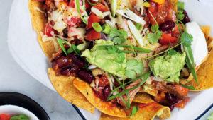 Meaty nachos