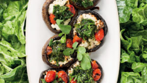 Ricotta and spinach stuffed portobello mushrooms
