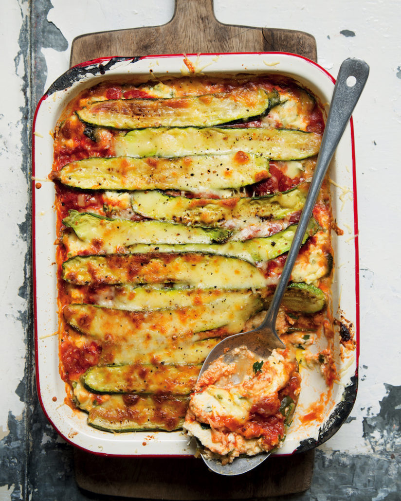 Baby marrow lasagne