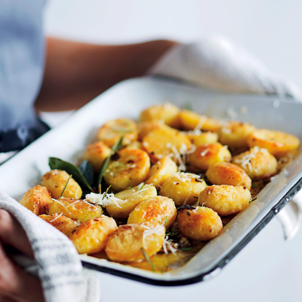 Duck fat roast potatoes with Parmesan and rosemary
