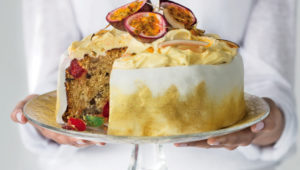 Last minute granadilla fruit cake