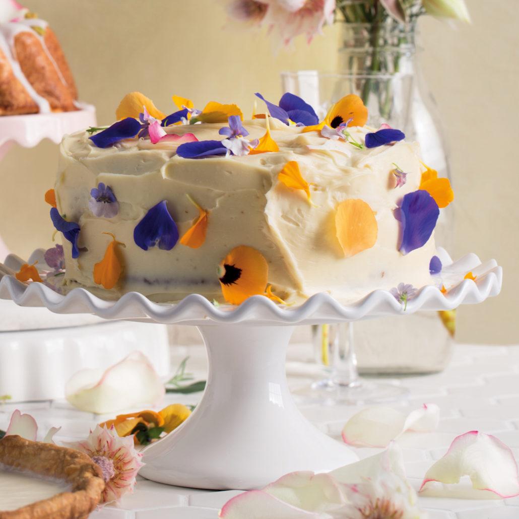 Lemon flowerfetti cake