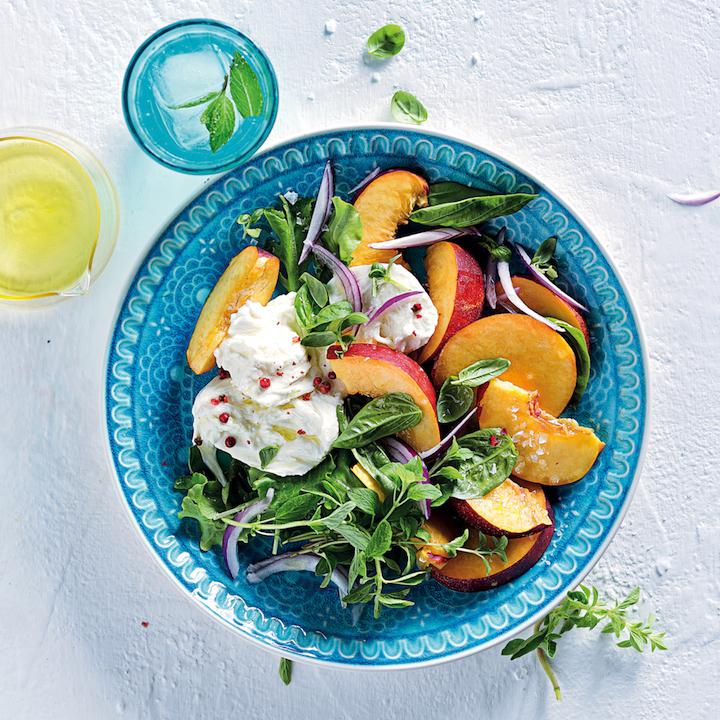 Nectarine and mozzarella salad
