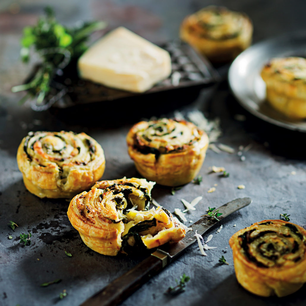 Spinach and ricotta tartlets