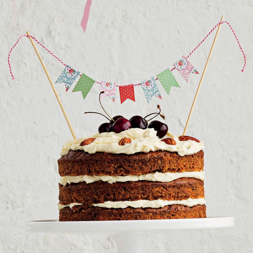 Sugarless carrot cake