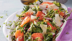 Blood orange salad with radishes and fennel