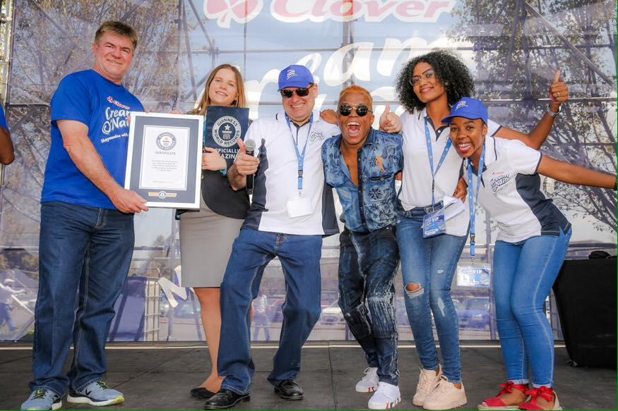 Clover's Cream O'Naise breaks Guinness World Record!