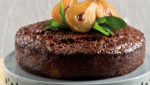 Amarula and pear malva cake