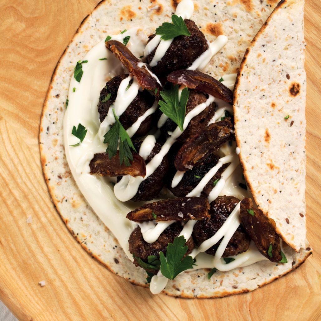 Middle Eastern Meatball Wraps Mykitchen