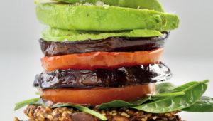 Miso veggie stacks