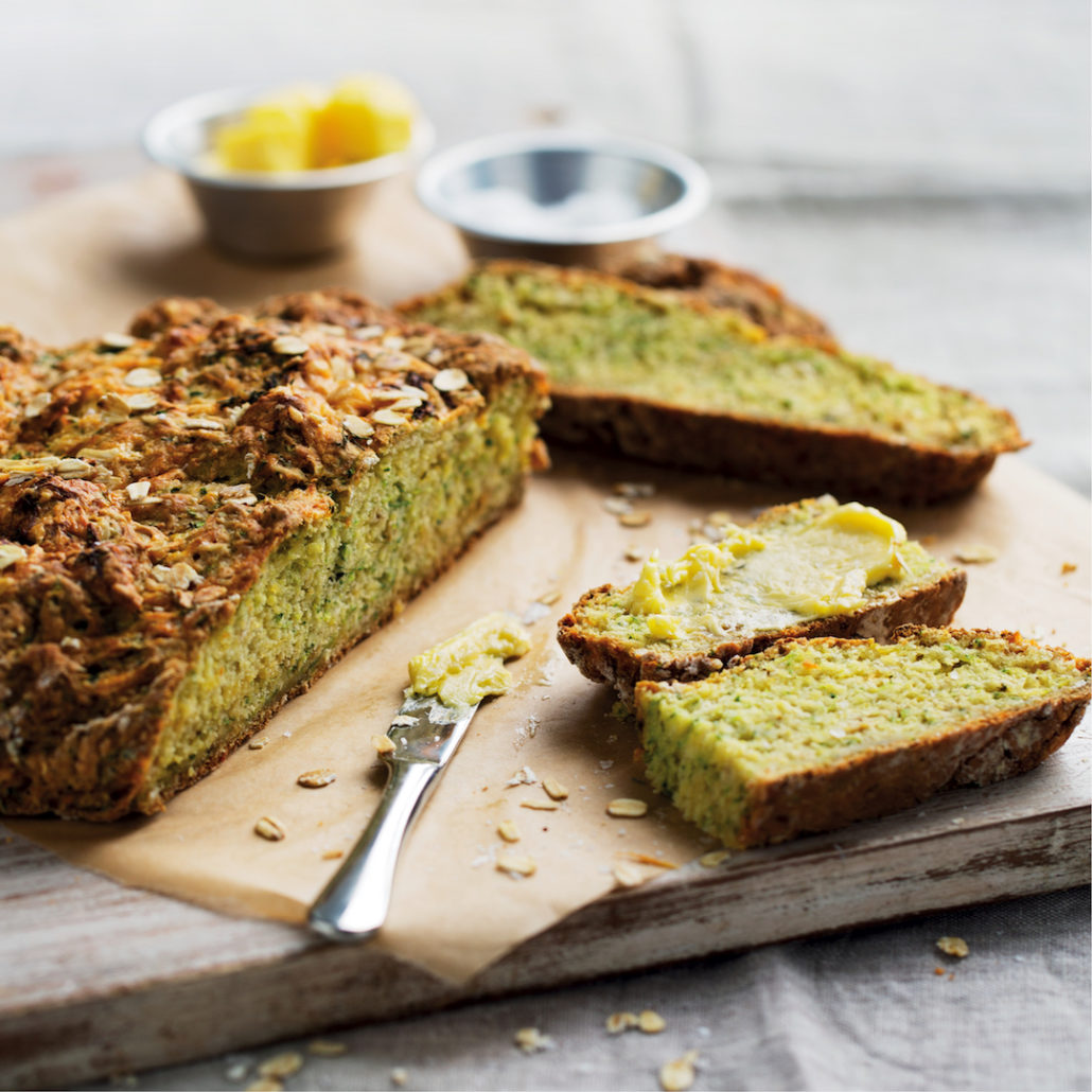 Baby marrow and cheddar soda bread