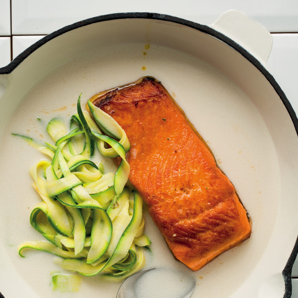 Coconut grilled salmon