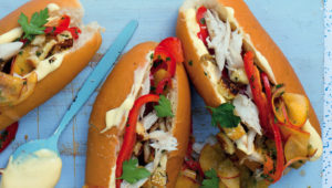 Snoek and halloumi dogs