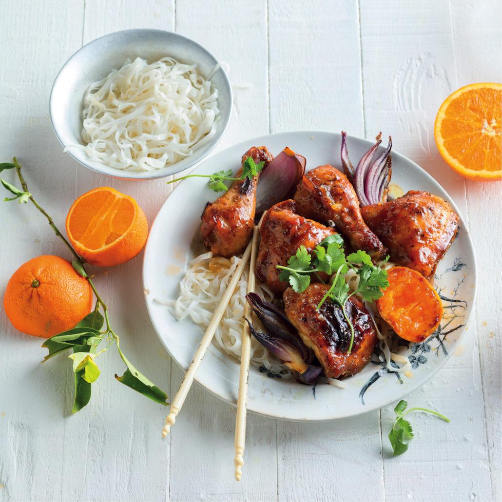 Asian-style sticky orange chicken