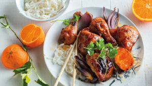 Asian-style sticky orange chicken