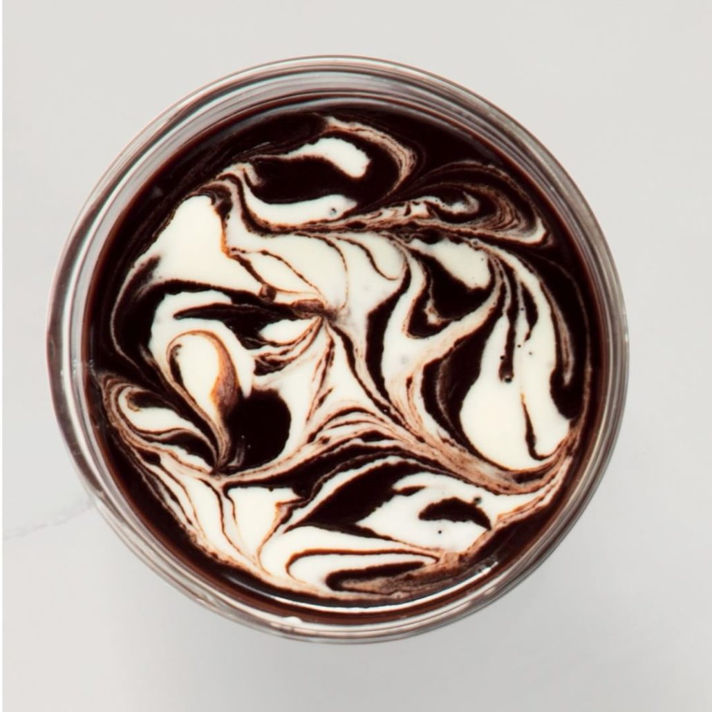 Marbled hot chocolate