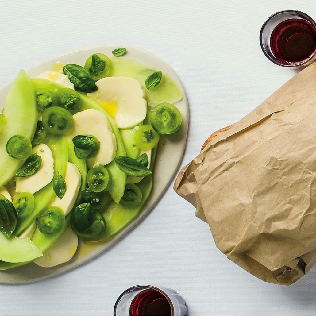 Melon caprese salad