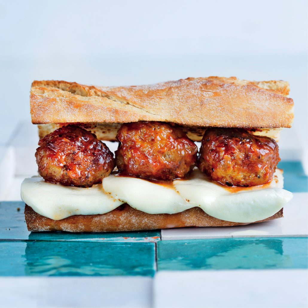 Mozzarella and meatball sub