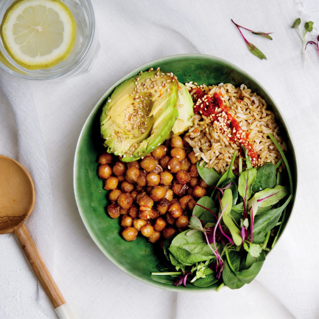 Roasted chickpea bowl