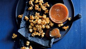 Salted-caramel whisky popcorn