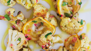 Roasted cauliflower with lemon relish