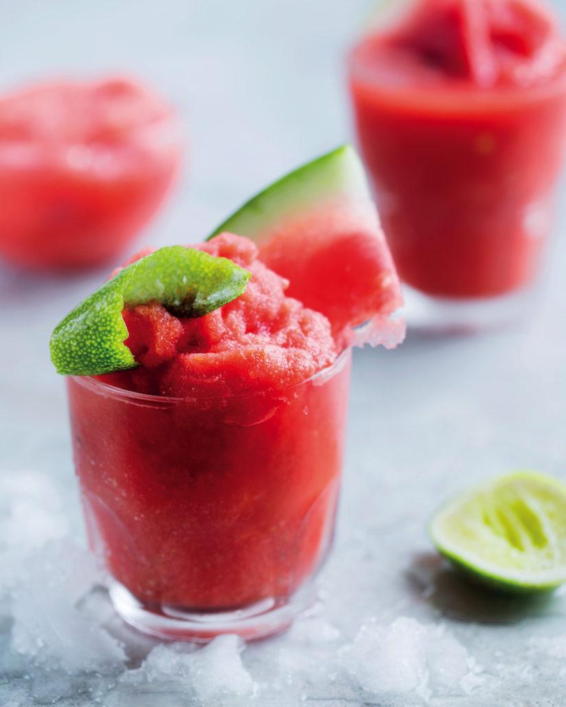 Watermelon and tequila slushies