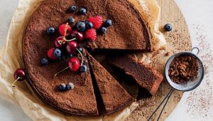 Wheat-free chocolate cake