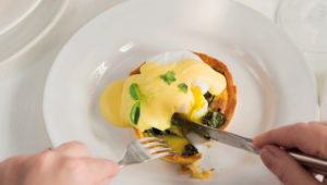 Hollandaise egg cups