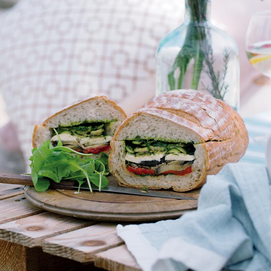 Roast vegetable muffuletta
