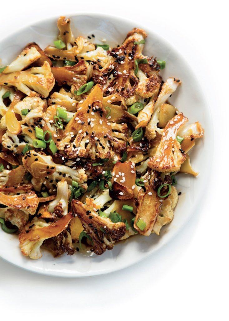 Asian-inspired cauliflower wings