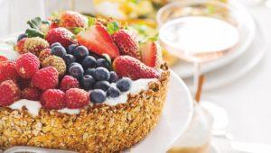 Berry granola tart