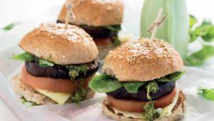 Caprese brinjal burgers